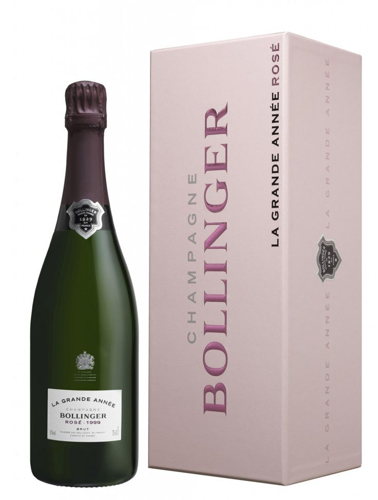 Bollinger Grande Année Rosé 1999 in Fifty Shades of Grey on pages 250 and 309