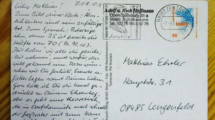 Diese Postkarte hat 15 Jahre für 4 km gebraucht - News Inland - Bild.de
