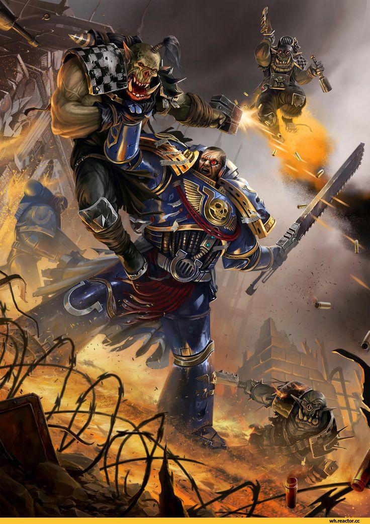 Warhammer 40000,warhammer40000, warhammer40k, warhammer 40k, ваха, сорокотысячник,Wh Песочница,фэндомы,Ультра превозмогает орков,Wh Other,Ultramarines,Ультрамарины,Space Marine,Adeptus Astartes,Imperium,Империум,Orks