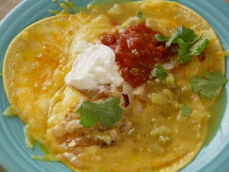 Pioneer Woman - Easy Green Chile Enchiladas from FoodNetwork.com