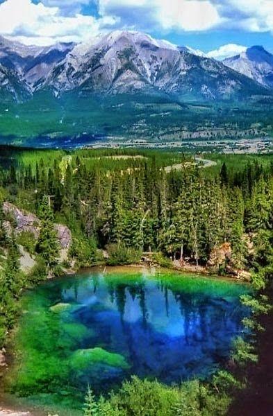 Grassi Lakes in Canmore, Alberta, Canada