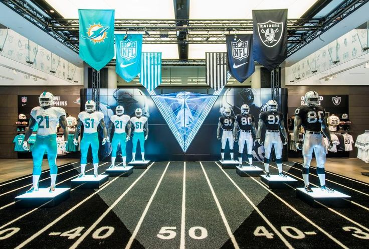 NIKE, NFL Niketown Takeover, 2014 | Miami Dolphins vs The Oakland Raiders by Millington Associates - #NFLUK #RaiderNation #FinsUp