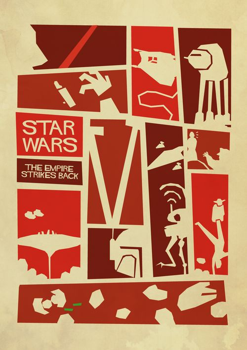 Star wars the empire strikes back minimalist poster created by sindre hansen