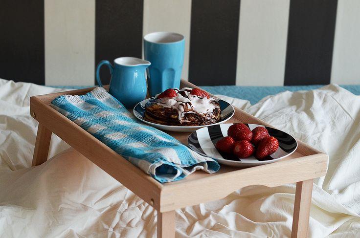 Ricotta pancake with strawberry