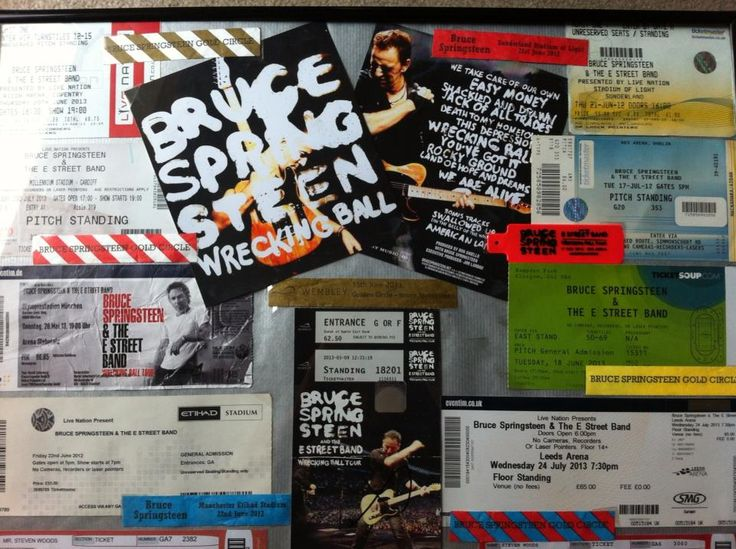 Memories of our personal Wrecking Ball tour 2012/13 Thank You Bruce Springsteen and the mighty E Street Band