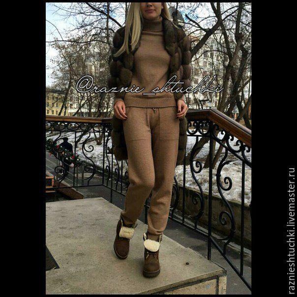 Купить Трикотажный костюм (шерстяной костюм) - костюм, костюм женский, костюм шерстяной, Костюм вязаный