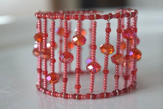 Bracelet manchette  Bracelet cuff  Bracelet par RoseCreationsBoutik