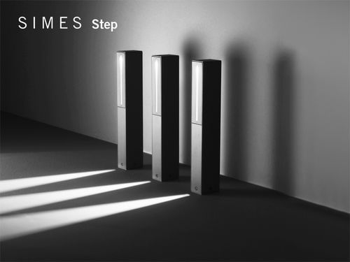 Borne d'éclairage de jardin / contemporaine / en métal / à LED STEP Simes