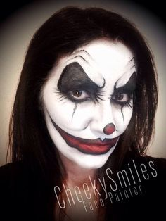 Evil clown face paint designs