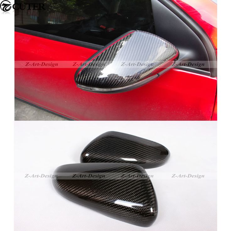 Golf 6 Carbon Fiber Rear Mirror Cover For VW Golf 6 Rear Mirror Caps   Free shipping