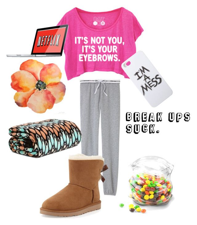 """""""Breakup outfit"""" by kit-kat-1987 ❤ liked on Polyvore featuring Victoria's Secret, UGG Australia, Dot & Bo, LAUREN MOSHI, Vera Bradley, women's clothing, women's fashion, women, female and woman"""