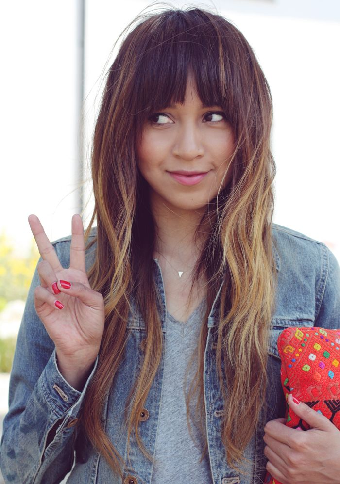 I think this is the fringe and hair style I want.  Copying my very fashionable…