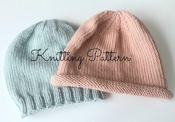 Knitting Pattern  Baby Basics Beanie Hat  by BlueberryBarnDesigns, £2.80