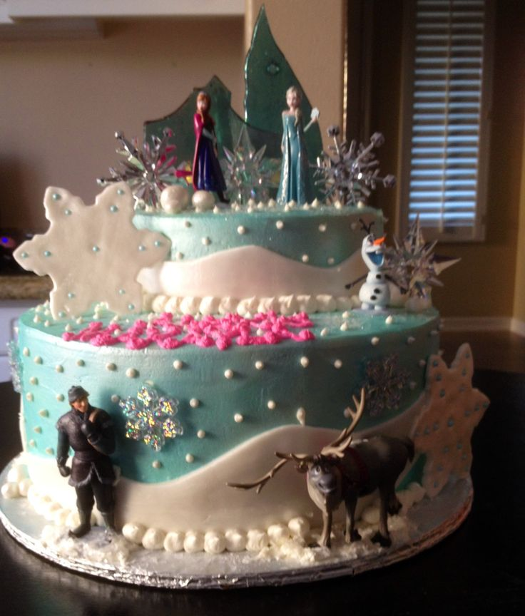 Disneys Frozen themed Happy Birthday Cake