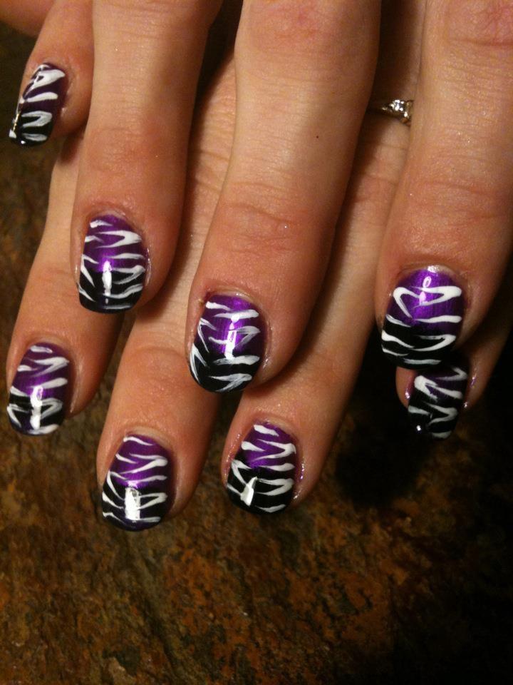 purple and black zebra print
