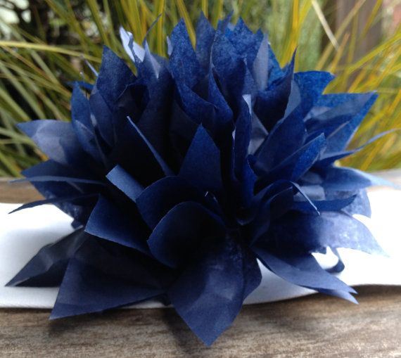 Set of 45 You choose the color. Paper Dahlia Napkin Rings. Perfect for weddings, receptions, baby showers, decor, birthdays. paper pom poms.