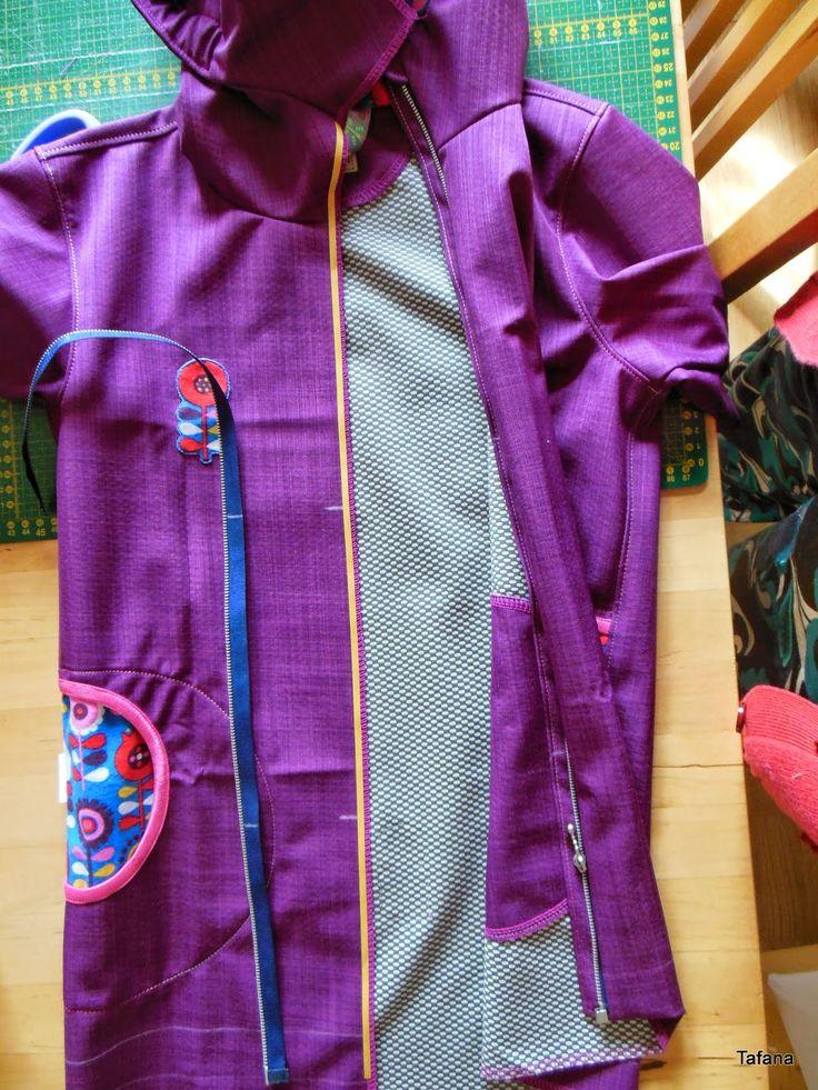 Tafana: Šití zipu s podkrytem do bundy bez podsádky