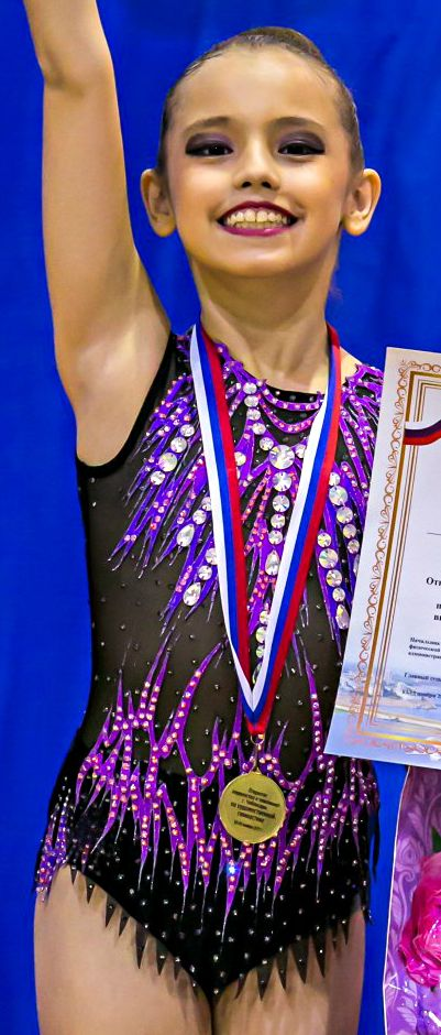 RG leotard close-up (photo by Fotostars Russia)