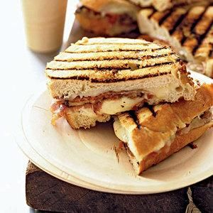 Cheesy Grilled Eggplant Sandwiches with prosciutto and jarlsberg