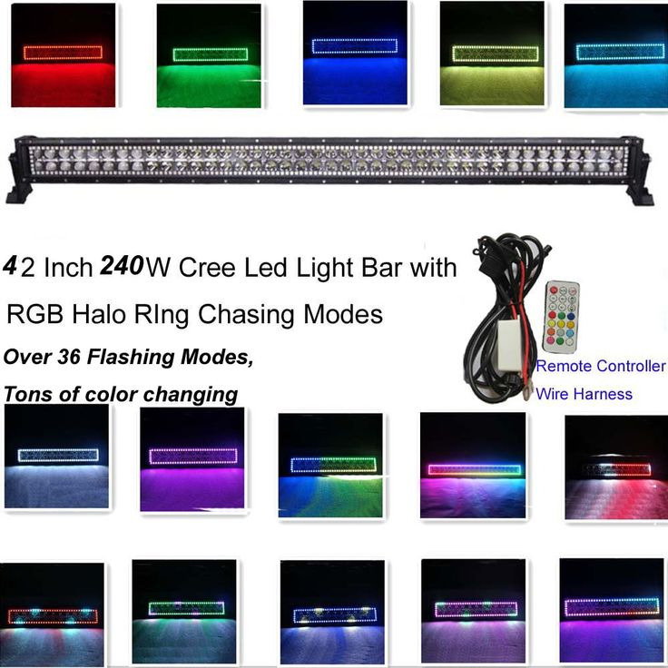 ==> [Free Shipping] Buy Best 240w 42Inch Led Light Bar 12V 24V with RGB Halo Ring 300 Flashing Modes by RF Remote Controller Halo Ring Led Strobe Light Bar Online with LOWEST Price | 32728820040