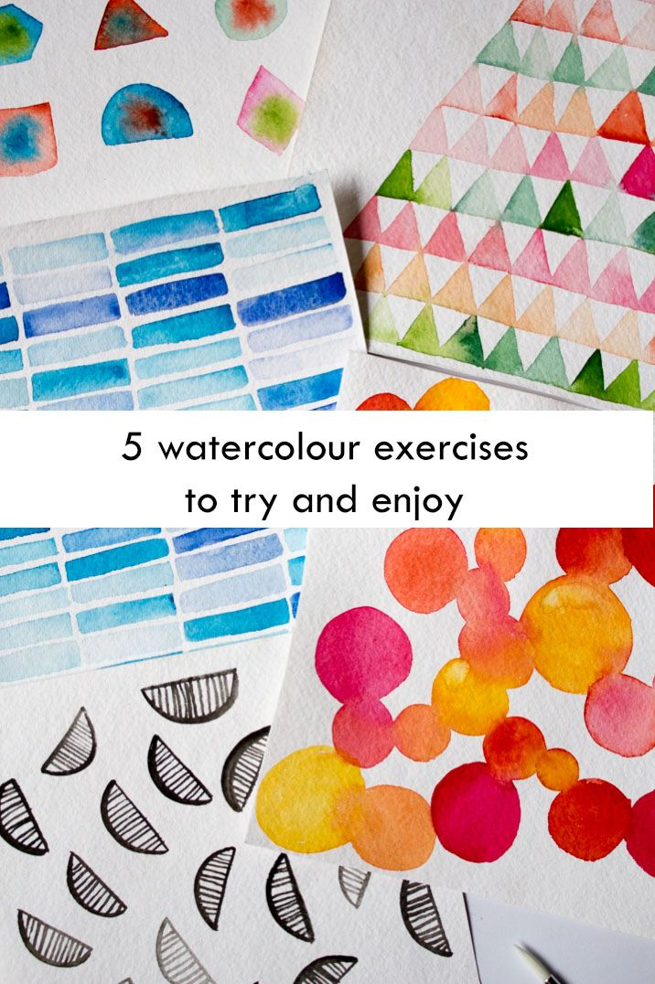 5 Watercolour exercises to try and enjoy #surelysimple