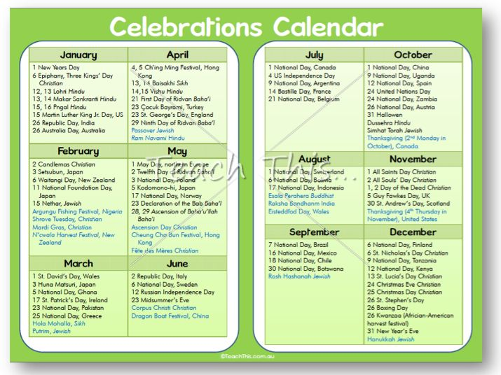 Student Calendar Planner : Celebration calendar humanities pinterest