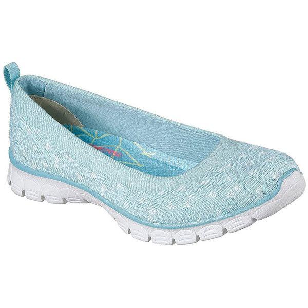 Women's Skechers Women's Ez Flex 3.0 Casual Shoes6/Aqua found on Polyvore featuring polyvore, women's fashion, shoes, blue, skechers shoes, blue shoes, skechers footwear, skechers and aqua shoes