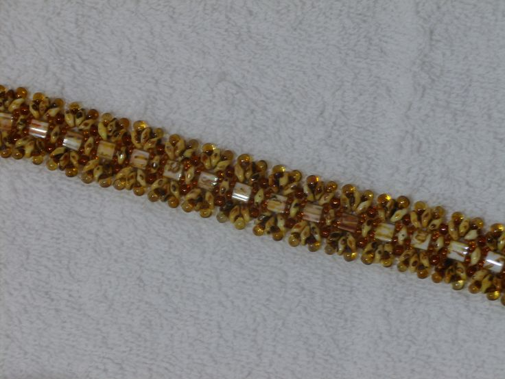 I enjoyed adding the drop beads on the edge to give the bracelet a lacey edge and some movement.