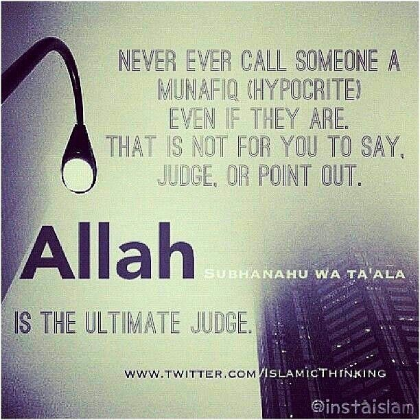 OnlybAllah Subhanahu Wa Taalah Is The Ultimate Judge