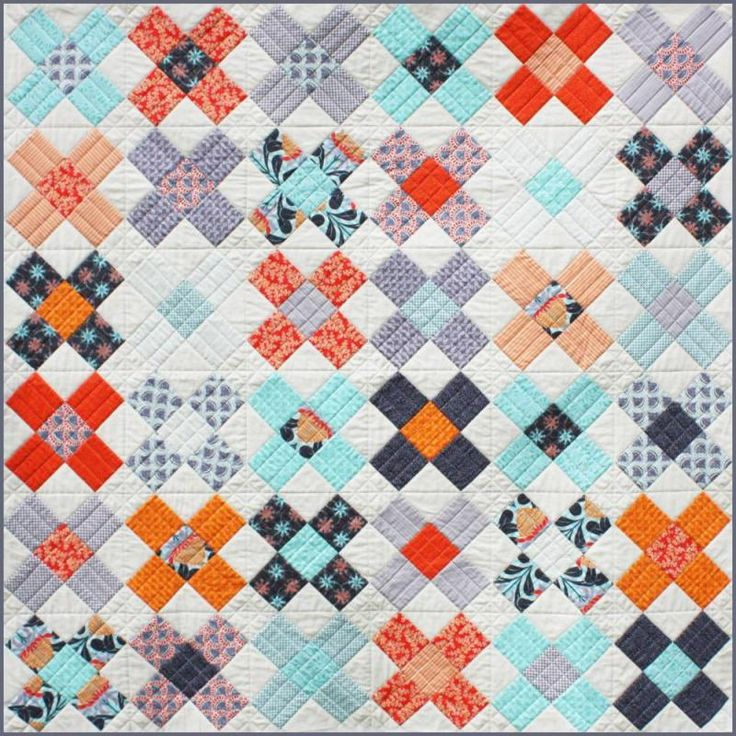 """King's Cross Creative Card Designed by Emma Jansen Finished Quilt Size:  183cm x 183cm (72"""" x 72"""")"""
