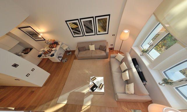 Modern living room design - Rippl house, Budapest