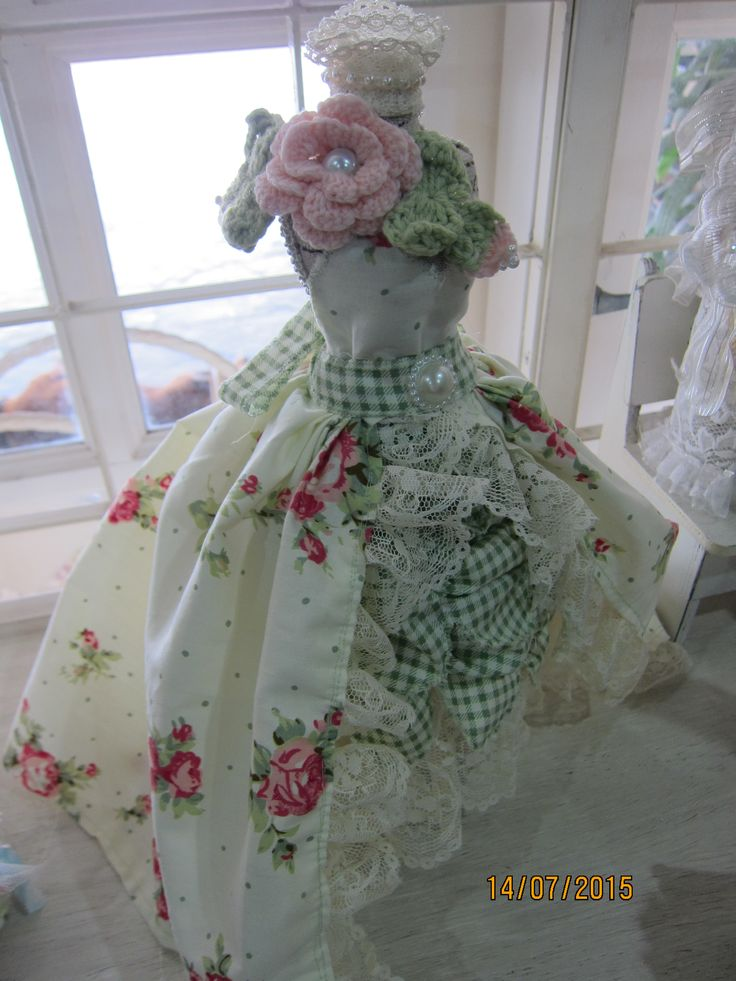 Shabby Voctorian altered Dress form Created by Msgardengrove1