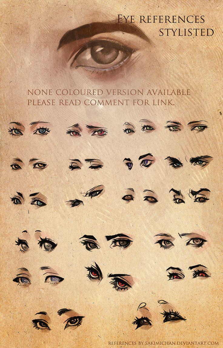 Stylized Eye References by =sakimichan