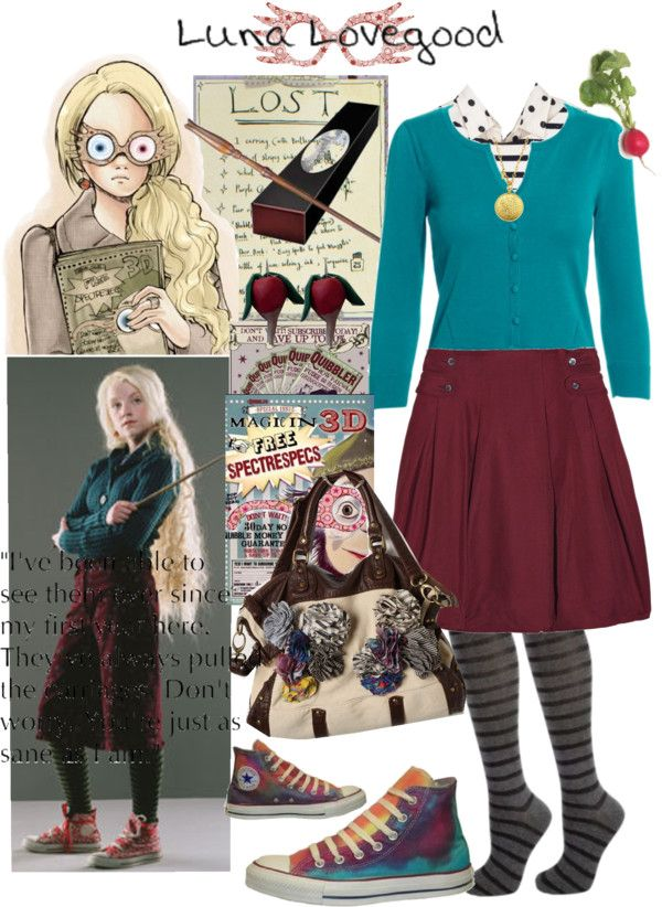 """Luna Lovegood of Harry Potter"" by lilbailey ❤ liked on Polyvore"