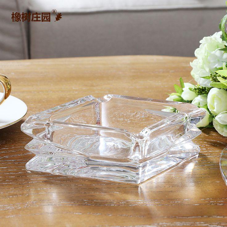 Дуб manor современный минималистский стекло пепельница украшения Домашнего Интерьера бойфренд подарок на день рождения продукты