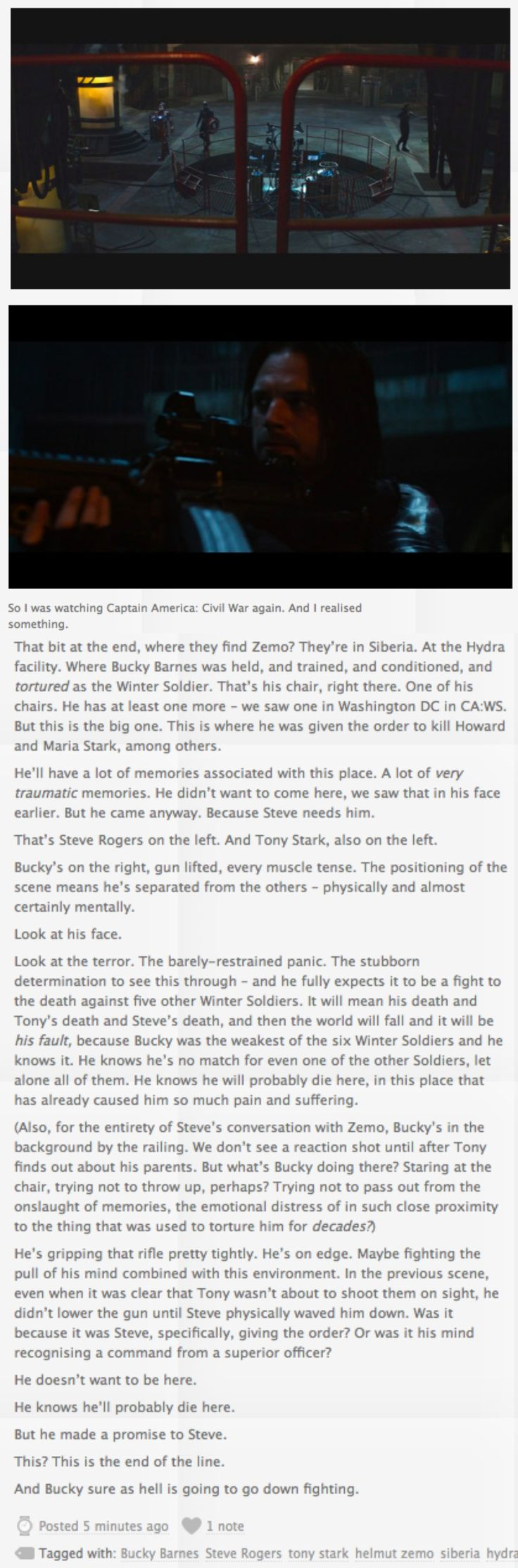 Source: http://the-hobbits-smial.tumblr.com/post/157478883829/so-i-was-watching-captain-america-civil-war Bucky Barnes, Hydra, Steve Rogers, Torture, Captain America: Civil War