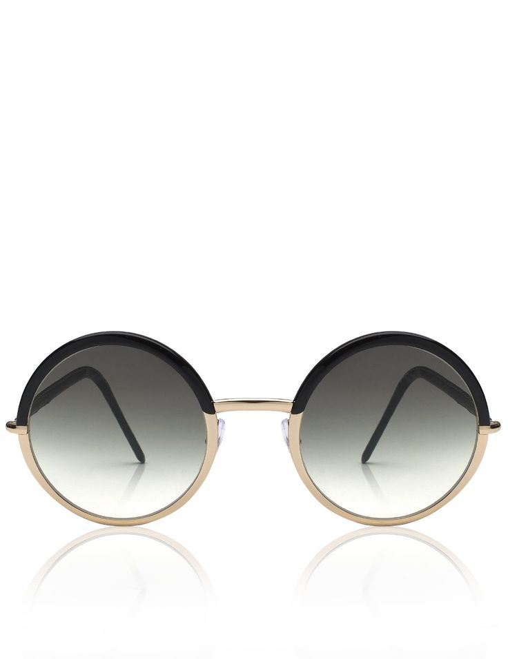 Two Tone Round Gradient Sunglasses | Cutler and Gross | Avenue32