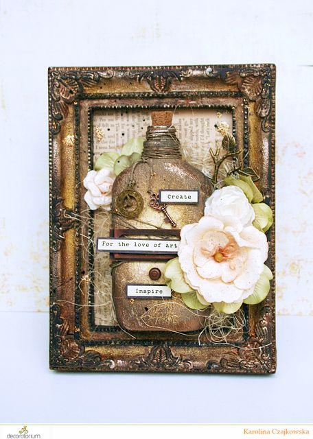 decoratorium: Inspiracja Karoliny: Butelkowa ramka