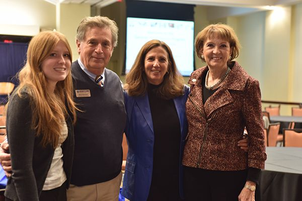 From left to right: Melissa Armstrong, Steve Wareham, Dr. Pamela Elfenbein and Dr. Bonita Jacobs attended the 2nd Annual Summer Food Service Program Summit, where Jacobs gave the keynote address after being invited to do so based on UNG's strong growth in providing summer meals within the food service program.