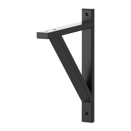 EKBY VALTER Bracket, black black 28 cm