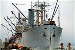 Redoak Victory Ship..My father worked on this ship or one like it. North Richmond's old shipyard; its home now, center stage surrounding Bay View.