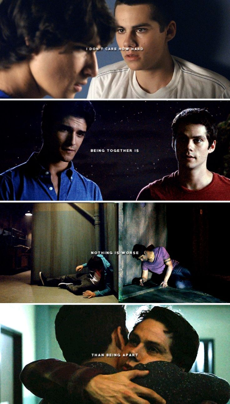 Teen Wolf - sciles - you wanna split up? Never again.