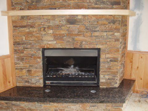 Classic Slate Fireplace  Tile SurroundSlate 13 Best Fireplaces Images On Pinterest Mantles Fire Places