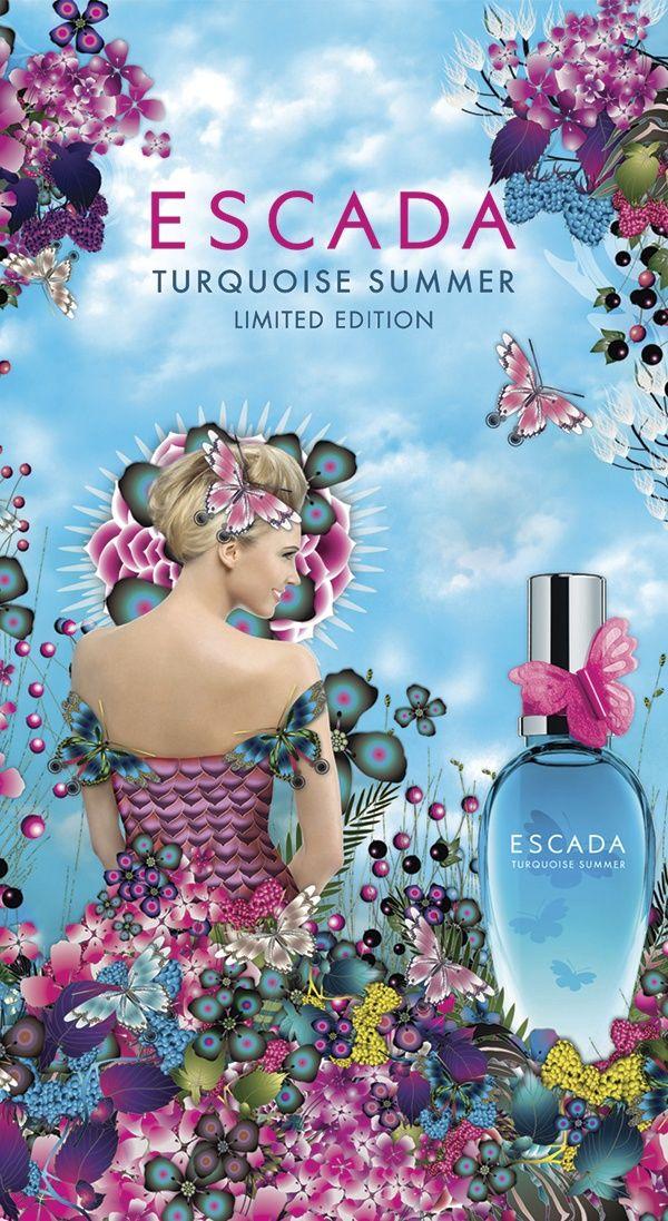 Escada perfume turquoise summer dress