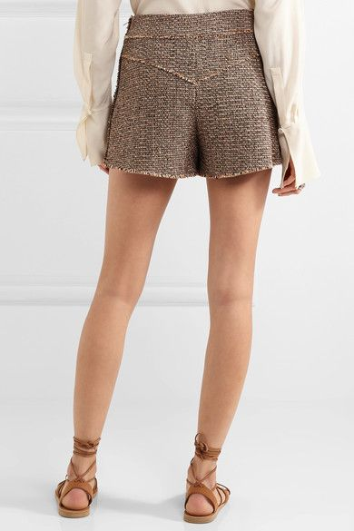 Chloé - Wool-blend Tweed Shorts - Brown - FR36