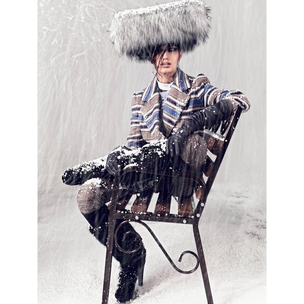 Igor Oussenko Captures Snow-Covered Looks for Stolnick Magazine ❤ liked on Polyvore