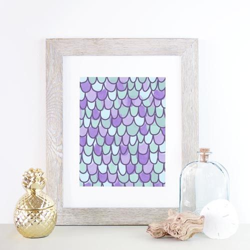 Mermaid scale art another way to add this trend as an accent.