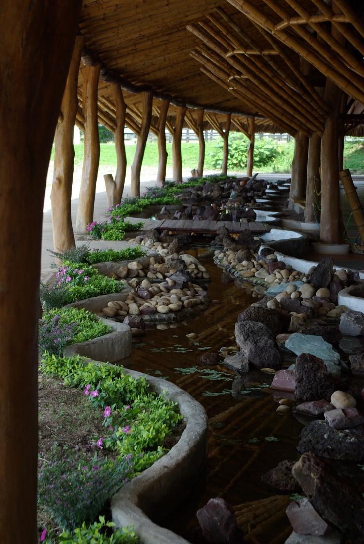 Jardines de agua, Construcción en madera en los Llanos Orientale