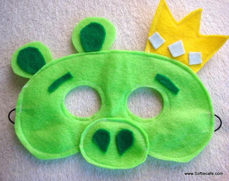 Angry Birds Felt Masks: Diy Ideas, Kids Parties, Felt Masks, Halloween Costumes, Angry Birds Sewing, Birds Parties, Birds Felt, Costumes Ideas, Birds Masks