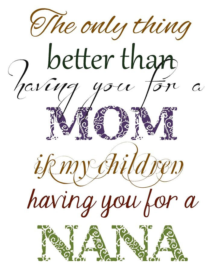 nana picture quotes | Full of Great Ideas: Christmas in September - Free Printable -The Only ...